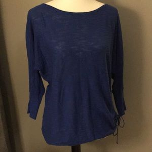 Royal Blue Express Small Sweater W/side Ruching